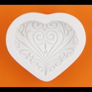 Szilikon forma indás szív