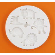 Szilikon forma afrikai állatok