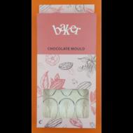 Polikarbonát csoki öntő forma dinó tojás 12 darabos
