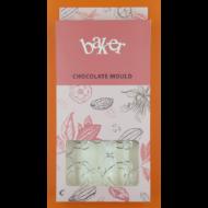 Polikarbonát csoki öntő forma maci szívvel 8 darabos