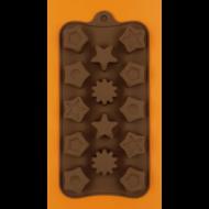 Szilikon csoki öntő forma csillagok 14 darabos