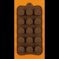 Szilikon csoki öntő forma kagylós praliné 15 darabos