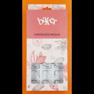 Polikarbonát csoki öntő forma leveles 24 darabos