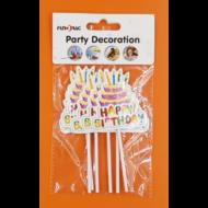 Happy Birthday közepes torták beszúrható torta dísz