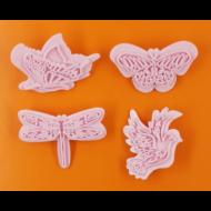 Szitakötő galamb pillangók kiszúró jelölő szett