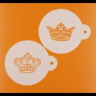 Stencil szett kerek 2  darabos koronák