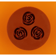 Szilikon forma 3 rózsa kicsi