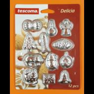 Fém csoki öntő forma karácsony 12 darabos