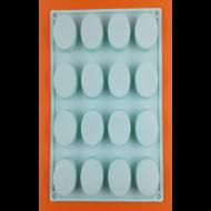 Kis oválok 16 darabos szilikon sütőforma
