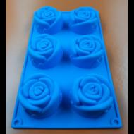 Hat darabos rózsa virágok szilikon sütőforma