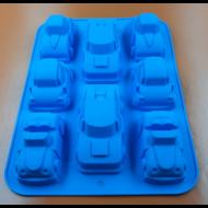 Autók 8 részes szilikon sütőforma