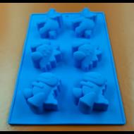 Kis dinók hat darabos szilikon sütőforma