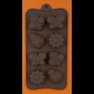 Szilikon csoki öntő forma méhecske katica lepke 8 darabos