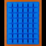 Szilikon csoki öntő forma ABC 48 darabos
