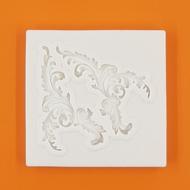 Szilikon forma barokk levél minta