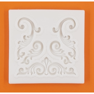 Szilikon forma barokk levelek 1