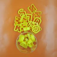 Betű kiszúró sárga nagy