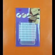 Betű + szám jelölő fehér mini