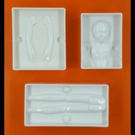 3D női alak műanyag csoki öntőforma