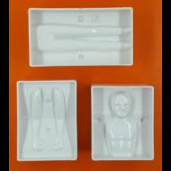 3D férfi alak műanyag csoki öntőforma