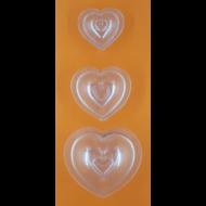 3D szívek polikarbonát csoki öntőforma