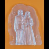 3D nászpár polikarbonát csoki öntőforma