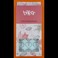 Polikarbonát csoki öntő forma rózsás bonbon 21 darabos