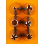 Díszítőcső szett 6 darabos