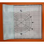 Üvegszálas szilikon nyújtó lap 60x40 cm