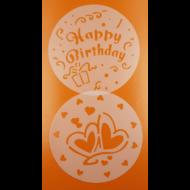 Stencil Happy birthday
