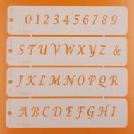 Stencil nyomtatott betűk számok