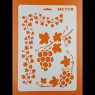 Stencil szőlő minta