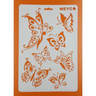 Stencil pillangók