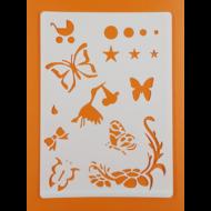 Stencil pillangók vegyes