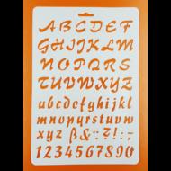 Stencil írott betűk számok