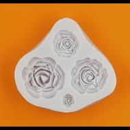 Szilikon forma 4 darabos rózsák