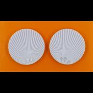 Szilikon forma kagyló minta dupla