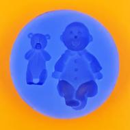 Szilikon forma baba és maci