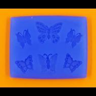 Szilikon forma 6 lepke