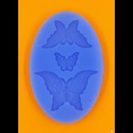 Szilikon forma 3 lepke ovál