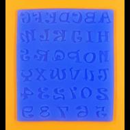 Szilikon forma játékos betűk