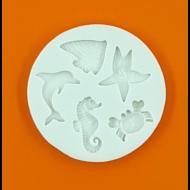 Szilikon forma tengeri állatok