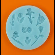 Szilikon forma vegyes virágok