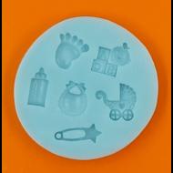Szilikon forma baby minták