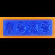 Szilikon forma medálok