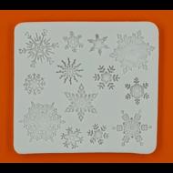 Szilikon forma hópihék