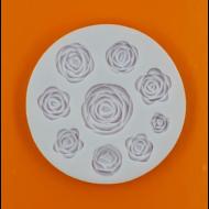 Szilikon forma rózsák