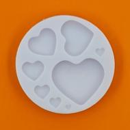 Szilikon forma 8 szív