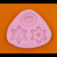 Szilikon forma 3 medál
