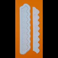 Szilikon forma csipkés szegély